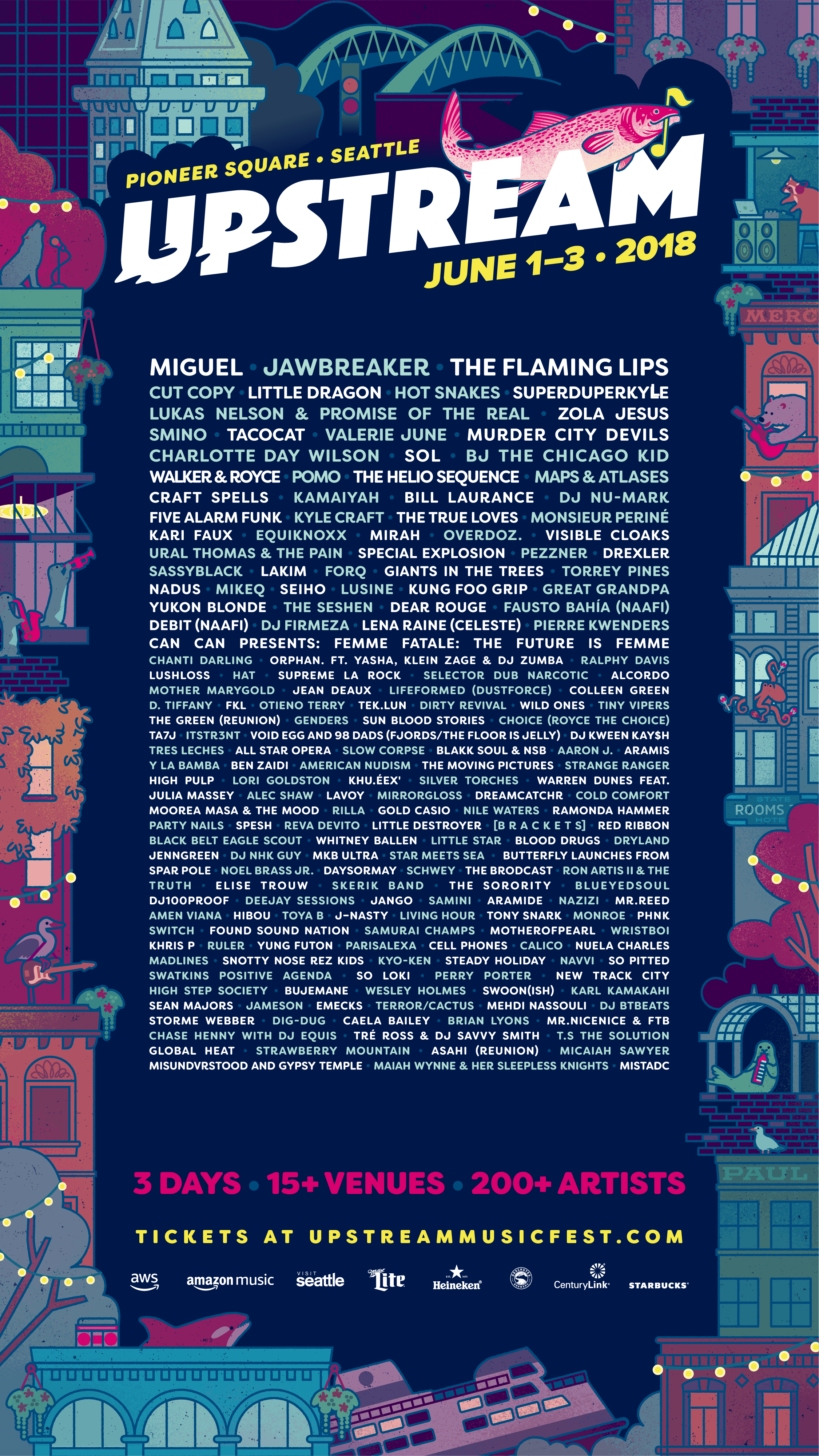 Upstream Fest (Seattle, WA) announces its full lineup